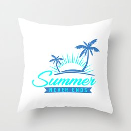Summer Never Ends pb Throw Pillow