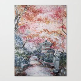 Autumn (Watercolor painting) Canvas Print