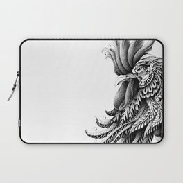 Ornately Decorated Rooster Laptop Sleeve