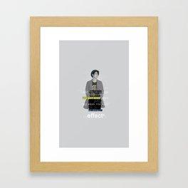 Jinyoung GOT7 Quote Framed Art Print