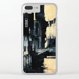 Hamburger Speicherstadt Clear iPhone Case