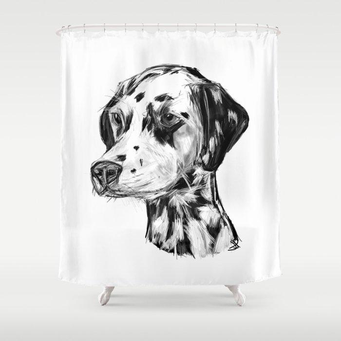 Dalmatian Shower Curtain By Jamespeart
