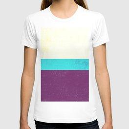 Textured Purple, Blue, White T-shirt