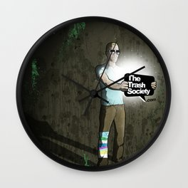 The Trash Society artwork Wall Clock