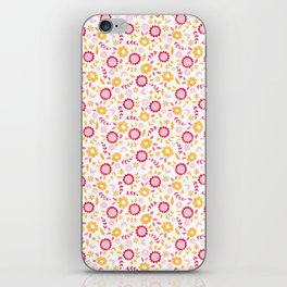 Autumn Floral - yellow, red, white iPhone Skin
