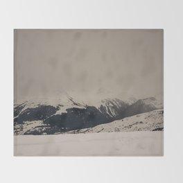 Mont Blanc vintage Throw Blanket