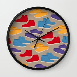 Comfy Glerups Slippers Wall Clock