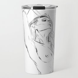 embrace your body - nude girl portrait Travel Mug