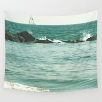 sail Wall Tapestries featuring Sail Away, Sail Away. by Amy J Smith Photography