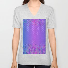 Colorful triangle background Unisex V-Neck