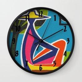 Vintage California Travel Poster Wall Clock