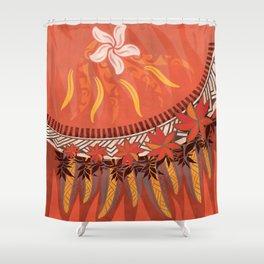 Mauna Kea Hawaiian Sun Tribal Print Shower Curtain