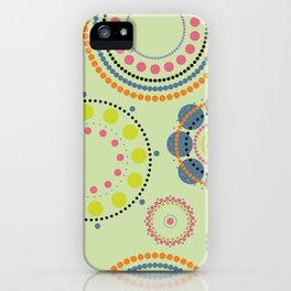 Colorful circles pattern iPhone Case