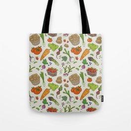 Farmer's Market: Veggies & Fruit Tote Bag