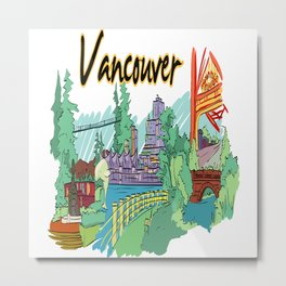 Vancouver Canada Metal Print