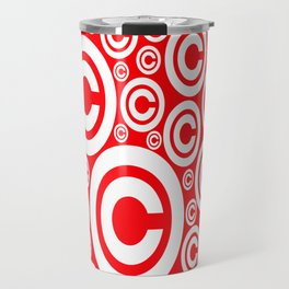 Vector Copyright Symbol Seamless nice idea for our products Travel Mug