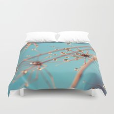 Queen Anne's Lace in Blue Duvet Cover