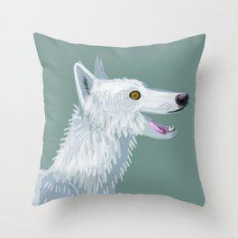 Totem Canadian wolf 1 Throw Pillow