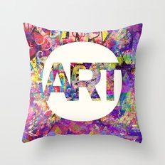 Graffiti is Art Throw Pillow
