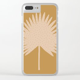 Palm Leaf Clear iPhone Case