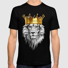 lion with a crown power king T-shirt
