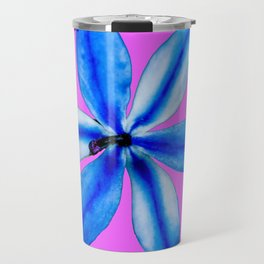 Little Blue Flower Travel Mug