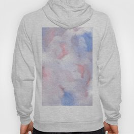 Abstract Watercolor Minimalist Quiet Murmur V periwinkle pink marble Hoody