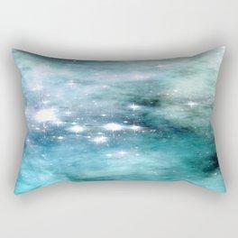 nEbulA Aqua Teal Sparkle Rectangular Pillow