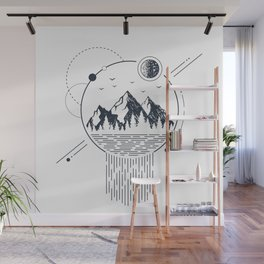 Mountains. Geometric Style Wall Mural