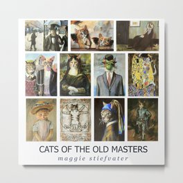 Cats of the Old Masters Metal Print