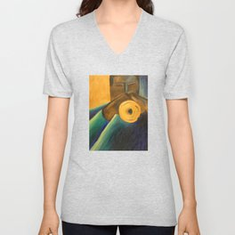 The Trumpet Player Unisex V-Neck