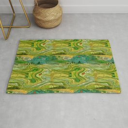Terraced Rice Paddy Fields Rug