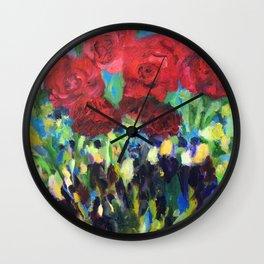Harmony of Roses Wall Clock
