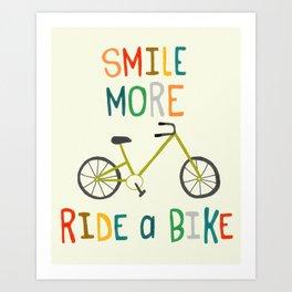 Ride A Bike Art Print