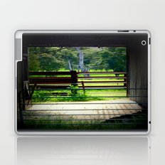 Looking through an old cattle Shed Laptop & iPad Skin