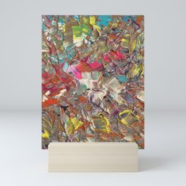 Abstract Acrylic Palette Knife painting Mini Art Print
