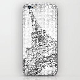 Typographic Art | PARIS Eiffel Tower iPhone Skin