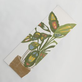 Scandinavian Plant Yoga Mat