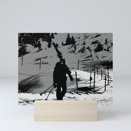 Night Skier Mini Art Print