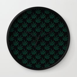 Weed Pattern 420 (outlines) Wall Clock