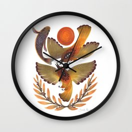 Fighting Birds Wall Clock