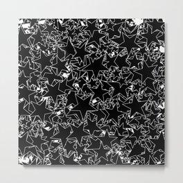 Stars B&W inverted / Lineart texture of stars Metal Print