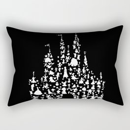 castle with characters black and white Rectangular Pillow