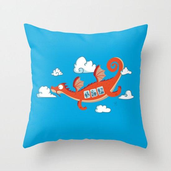 Dragonia Air Throw Pillow