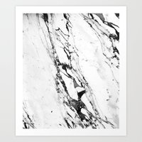white marble Art Prints featuring Marble by Judith Abbott