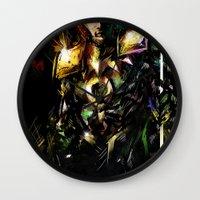loki Wall Clocks featuring Loki by Vincent Vernacatola