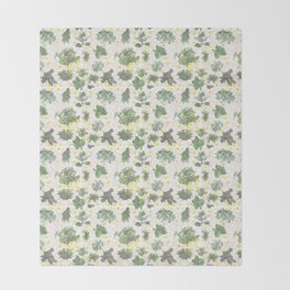 Salad Floral Throw Blanket