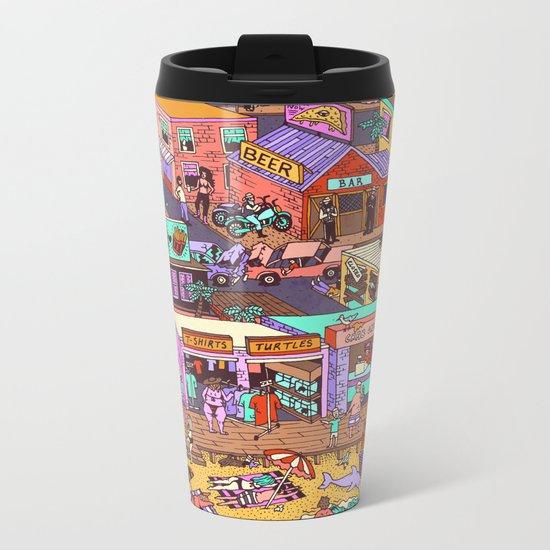Fried n' Cheesy Metal Travel Mug