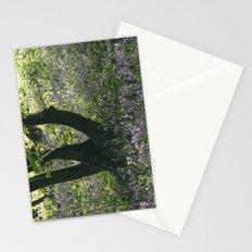 Wild Bluebells in ancient woodland. Wayland Wood, Norfolk, UK. Stationery Cards
