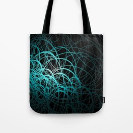 Linear Waves - Blue Tote Bag